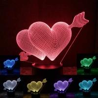 Ночник Acryl Hearts of Love Сердечки