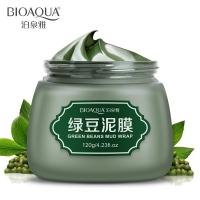 Очищающая грязевая маска с бобами Мунг Bioaqua Green Beans Mud Wrap , 120 г