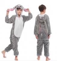 Пижама Кигуруми 3D Кролик Серый размер 130 (130см)