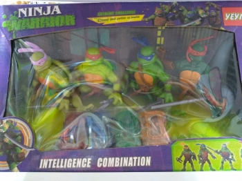 Набор Черепашки-Ниндзя + машинки Ninja Warrior 4в1