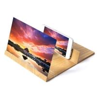 3D Увеличитель экрана на деревянной подставке для смартфона 3D Video Amplifier Mobile Phone
