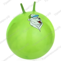 """Мяч-попрыгун STARFIT GB-403 65 см """"Медвеженок"""", с ручкой, оранжевый 1/10"""