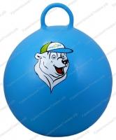 """Мяч-попрыгун STARFIT GB-403 65 см """"Медвеженок"""", с ручкой, синий 1/10"""