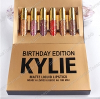 Матовая помада Kylie набор 6в1 Золото