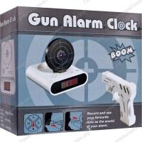 Будильник с мишенью Gun Alarm Clock + пистолет