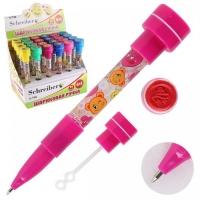 Шариковая ручка 4в1 штамп + пузыри + фонарик S-798