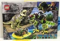Конструктор 82153 Dinosaur World 526 дет Битва Тираннозавра Рекса против Механического Дино