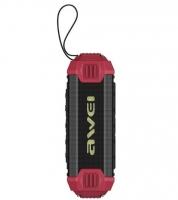 Влагозащищенная беспроводная колонка Awei Y280 Red (Bluetooth, MP3, AUX, Mic)