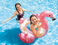 Матрас Фламинго с блестками 99х89х71см Flamingo Tube