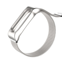 Металлический ремешок для Mi Band 3, на Магните в мелкую сетку