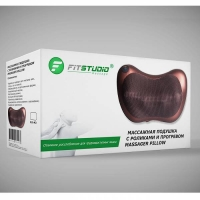 Массажная роликовая подушка FitStudio с ИК-подогревом (6 мини-роликов, 3 режима)