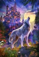 Алмазная мозаика 40х50 Квадратные стразы Волчий замок
