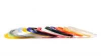 Набор пластика для 3D ручек PRO-15F (по 10м. 15 цветов) Кристальные, светящиеся