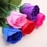 Роза из мыла Love в слюде 30см