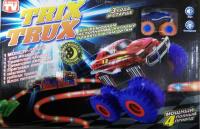 Монстр Траки Magic Trix Trux 2 машинки, веревки + препятствия, Светится
