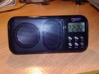 Мини HI-FI плеер MUSKY на аккумуляторе, динамики мощностью 3W, LCD дисплей, FM-радиоприемник, MP 3, SD карта памяти, будильник, календарь, таймер, часы