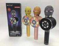 Караоке микрофон Wster WS-669 с Led подсветкой по кругу