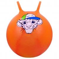 """Мяч-попрыгун STARFIT GB-402 55 см """"Тигренок"""", с рожками, оранжевый 1/10"""