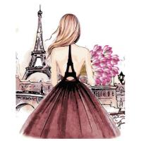 Картина по номерам ZX 22078 Девушка в Париже 40*50