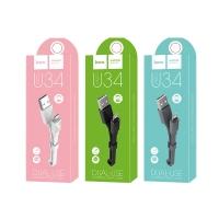 USB кабель HOCO U34 2 в 1 Lightning + Micro-USB