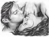 Алмазная мозаика 40х50 Квадратные стразы Поцелуй влюбленных