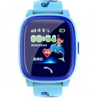 Smart watch baby DF25 ( W9 ) Водонепроницаемые Голубые