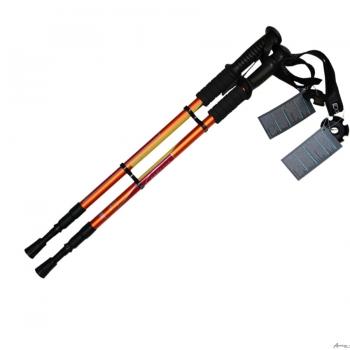 Скандинавские палки Trekker Explore 16300 до 135 см,  3-х секционные, сумка, амортизатор, сменный продолговатый наконечник