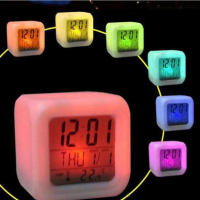 Электронные часы 7 LED Colors Change Digital Alarm Clock