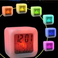 Электронные часы 7 LED Colors Change Digital Alarm Clock