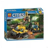Конструктор 10710 City Сити 397 дет миссия Исследование джунглей