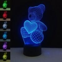 Ночник Acryl Teddy Bear with Heart