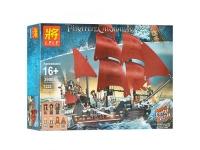 Конструктор 39008/19002 Пираты 1154+ дет. Корабль Месть Королевы Анны