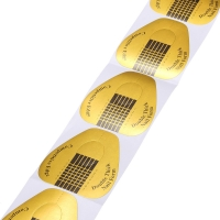 Формы Double Thick Nail Form одноразовые широкие-золото (500 шт)