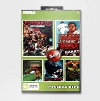 Картридж для Sega 5в1 TMHT/MORTAL KOMBAT/DOUBLE DRAGON 3
