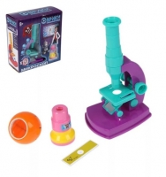 Набор Биолога 6 предметов: микроскоп, 2 калейдоскопа, 2 пустых слайда, образец клеток