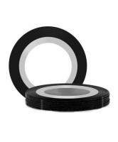 Нить на клеевой основе (черная) для дизайна ногтей 1мм