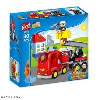 Конструктор 1010 Gorock 30дет Sity Fire Brigade Пожарная машина