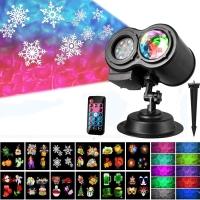 Уличный проектор Projector with Water wave light 2в1, 4 режима + 16 картриджей