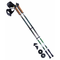 Палки для скандинавской ходьбы BERGER Starfall, 77-135 см, 2-секционные, цветные