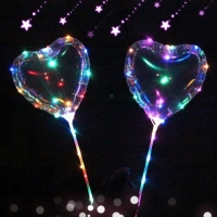 Светящийся Шар БоБо в виде Сердца LED подсветка