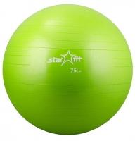 Мяч гимнастический STARFIT GB-101 75 см, зелен/фиолет/черный (антивзрыв)