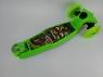 Самокат AMIGO BALOO Макси , до 60 кг, Светящиеся колеса (110 / 80 мм), 3D площадка, 2 колеса впереди