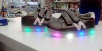 Светящиеся кроссовки Улыбка для малышей N р-р 23 B2070 синий/черный/олово