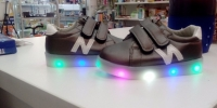 Светящиеся кроссовки Улыбка для малышей N р-р 21 B2070 синий/черный/олово