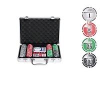 Покерный набор в Алюминиевом кейсе 200 фишек