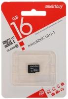 Карта памяти Smart Buy MicroSD 16Gb Class 10 с SD адаптером