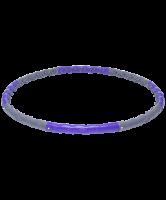 Обруч массажный разборный STARFIT HH-107, двухрядный, серый/фиолетовый