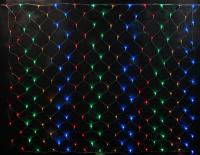 Гирлянда Занавеска / Сетка 2,0х2,0м. Цветная 240LED 220В