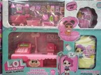 Кукла LOL (Лол) - Набор IceCream Supermarket + Ракушка и Чемоданчик