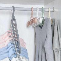 Вешалка органайзер для одежды на 9 ячеек